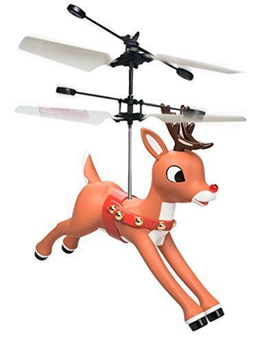 Rudolph the Red Nosed Reindeer Magic Mini Drone Flying Helicopter Toy #Panoware