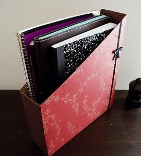 DIY Tutorial: Turn a cereal box into a cute notebook organizer.