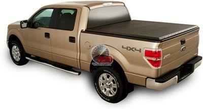 04-13 Ford F150 Pickup 6'6'' Advantage Sure-Fit Snap Tonneau Short Bed Cover - (Black)