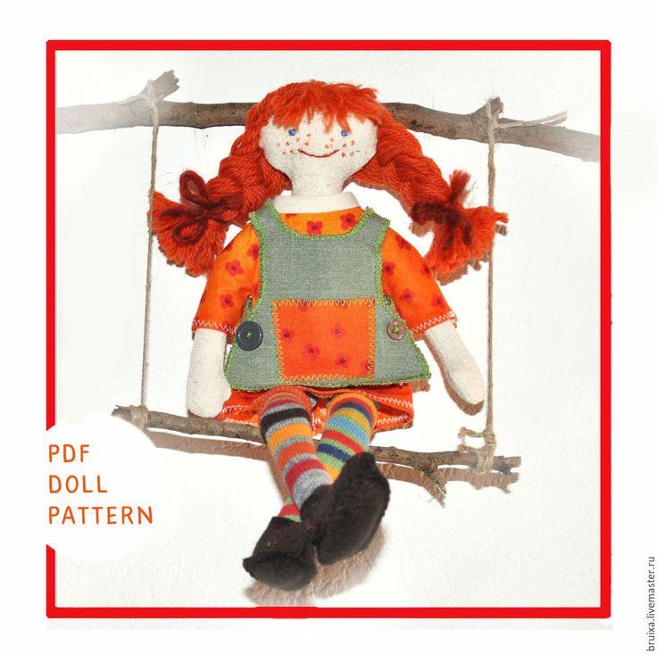 Купить Кукла текстильная. Мастер класс кукла Пеппи Длинный чулок - рыжий, выкройка