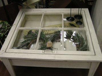 Fun DIY project...coffee table from an old window.
