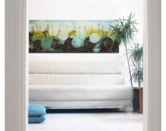 Pittura astratta pittura acrilica pittura carta di VictoriAtelier