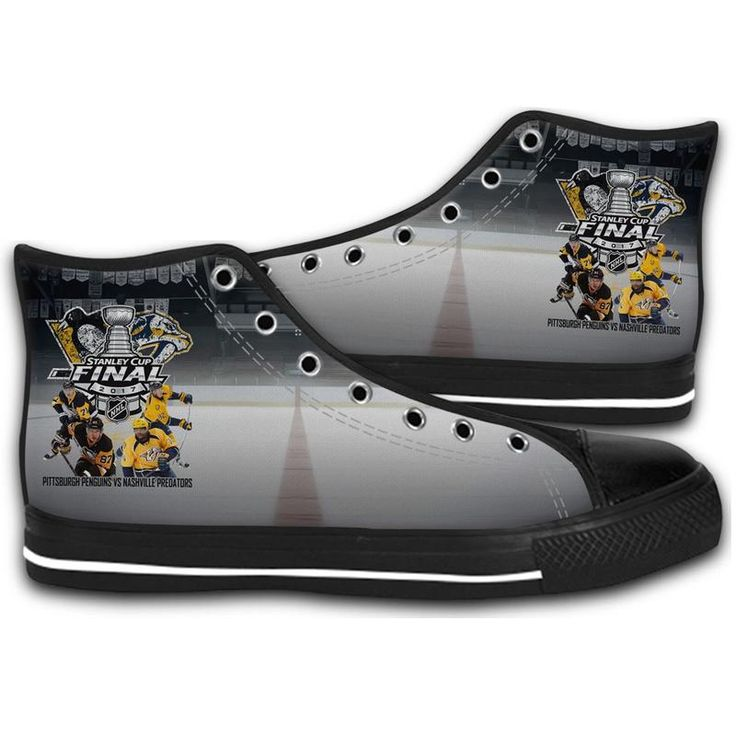 2017 STANLEY CUP FINAL PREDS AND PENS HIGH TOP CANVAS SHOES MEN'S & WOMEN'S RUNNING   #sport,#running,#shoes,#new