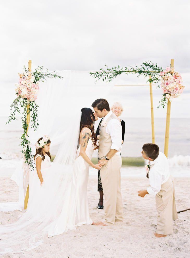 Simple beach wedding |