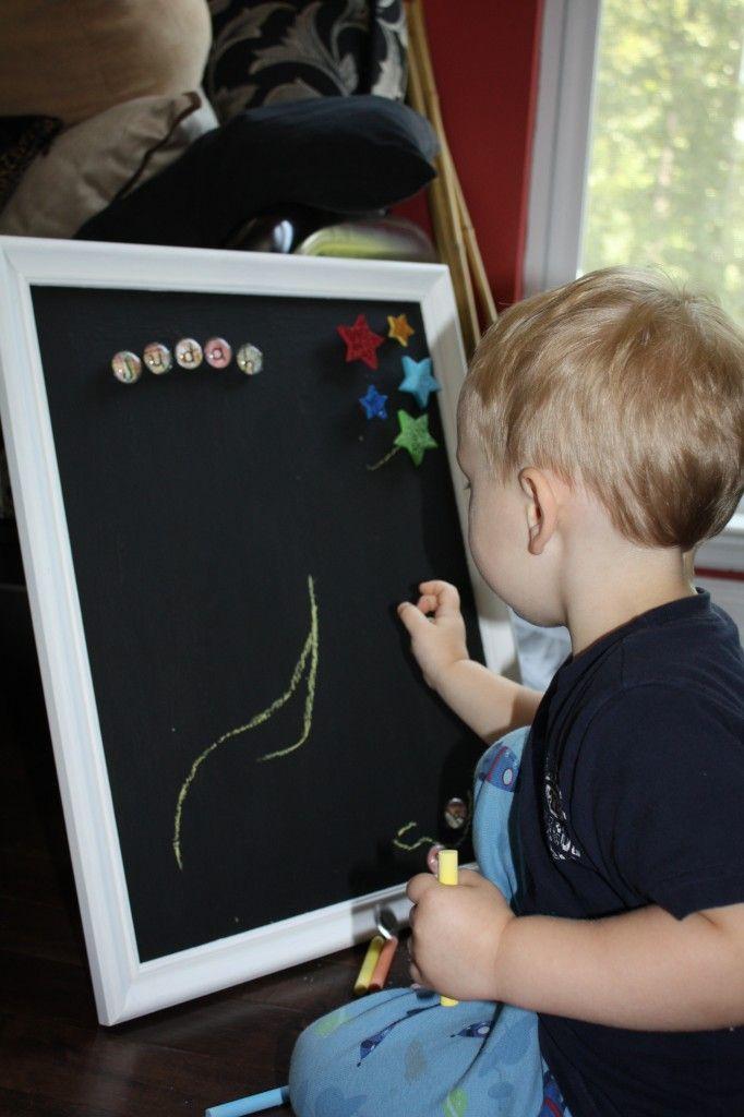 DIY: Magnetic Chalk Board – A Picture Frame Remake!