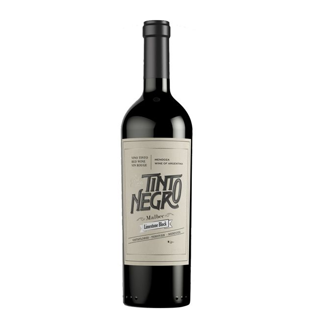Buy TintoNegro Limestone Block Malbec Red Wine from Argentina Online at Hic!
