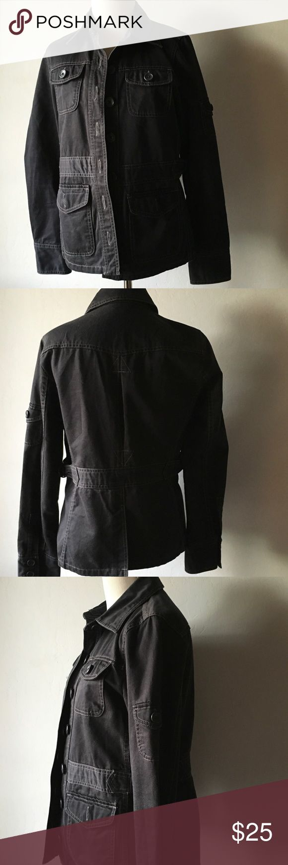 J.crew black military jacket Excellent condition J. Crew Jackets & Coats Utility Jackets