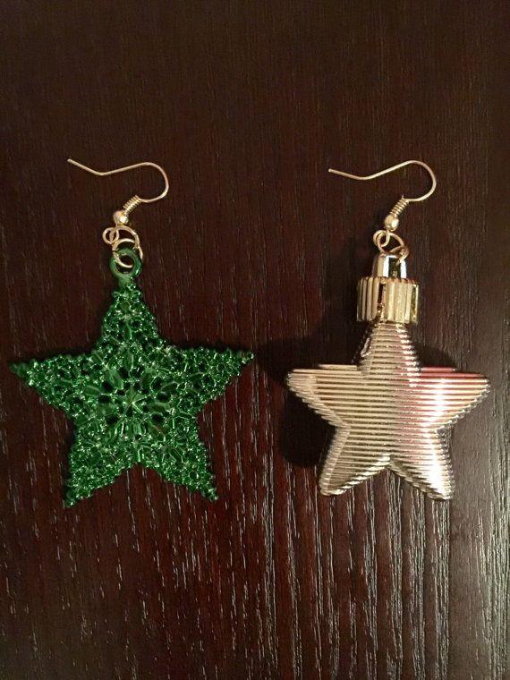Ornament Earrings Ready To Ship Star Earrings Christmas