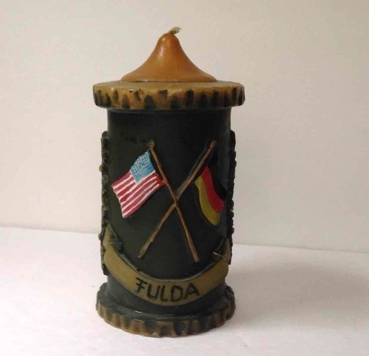 US Army Germany FULDA Sculpted Candle United States Military Base Cold War