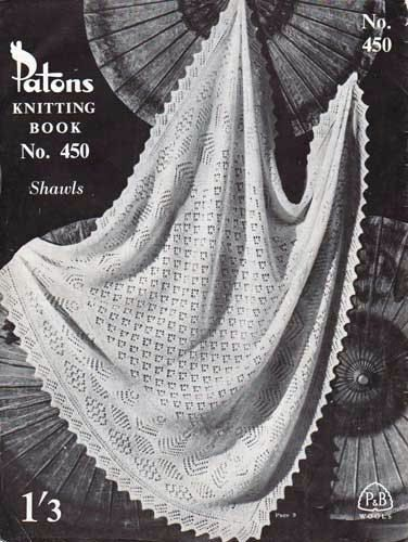 Knitting Pattern Shawl 2 ply or 3 ply