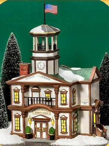 Woodbridge Town Hall New England Village