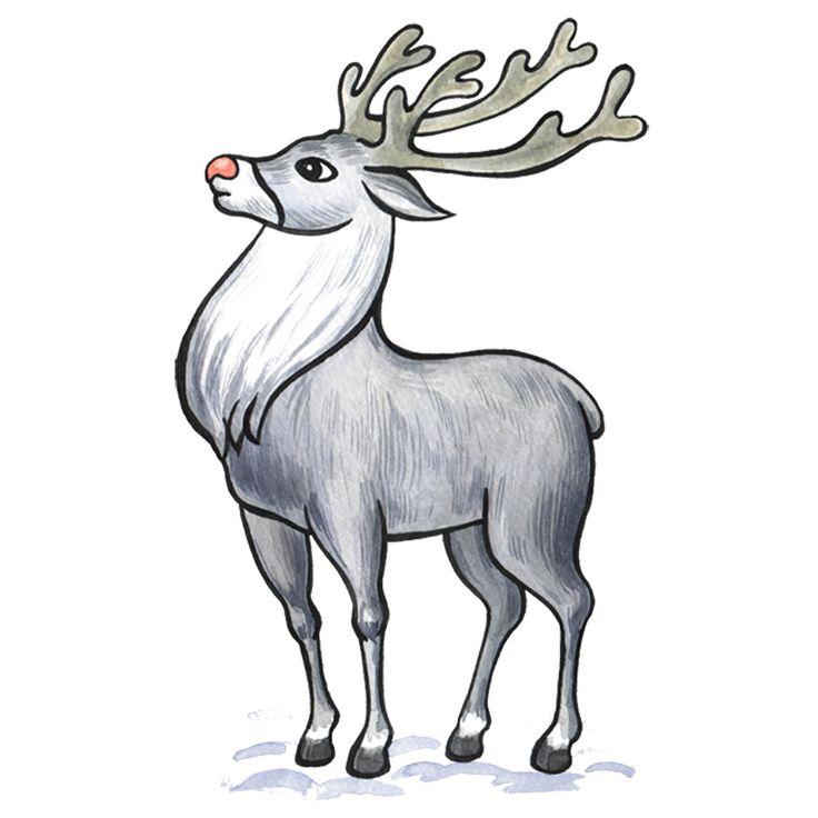 Новогодние олени картинки для срисовки