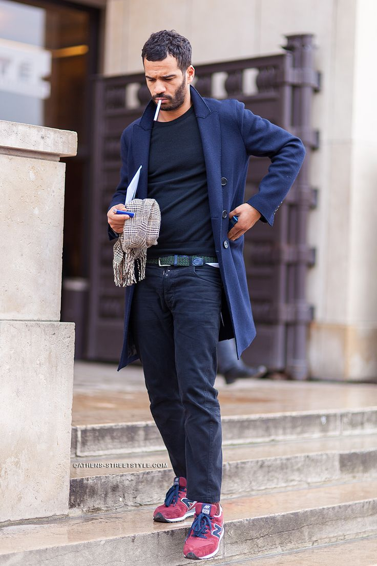 Athens Streetstyle Man Jeans Sneakers Paris Fashion Week Fall Winter 2014 2015 Street Style