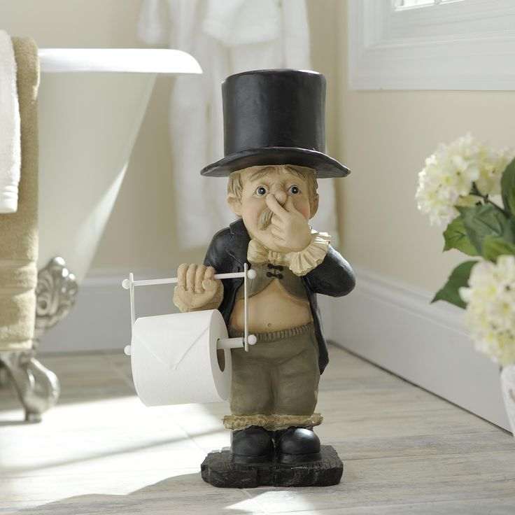 Have Some Fun With Your Bathroom Decor By Adding The Stinky Butler Toilet Paper Holder