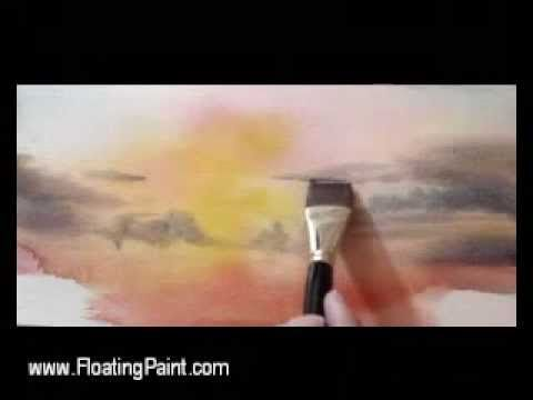 Watercolor Demonstration - Sunset Sea #2 by Joseph Chiang