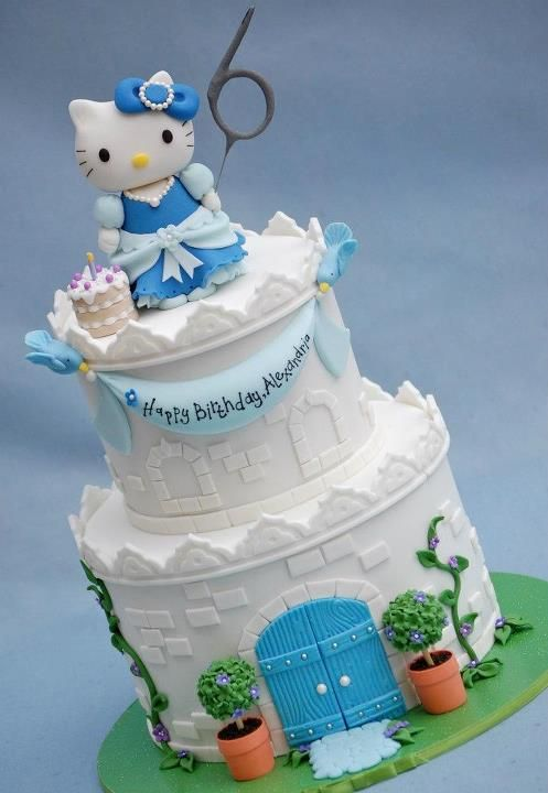 Hello Kitty Castle - by RoyalBakery @ CakesDecor.com - cake decorating website
