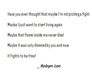 #robynleeart #fight