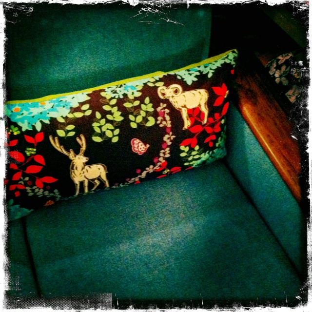 And a long pillow for the chair!