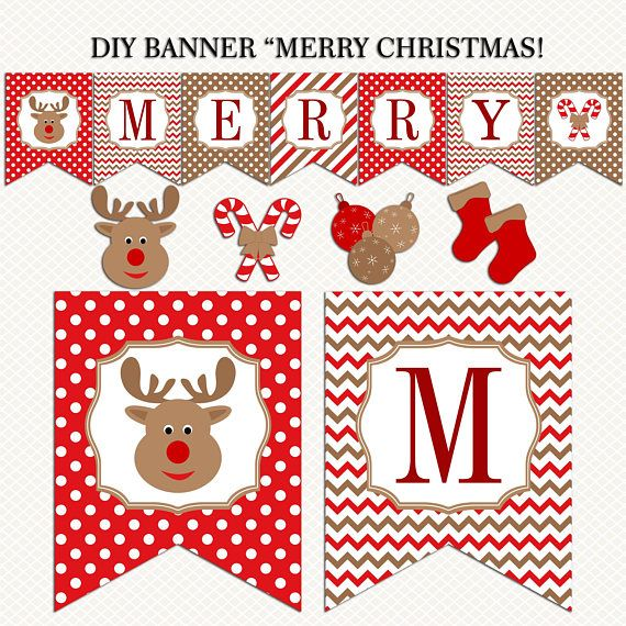 photograph relating to Printable Merry Christmas Banner called Merry Xmas Banner printable. Christmas Banner. Pink Brown