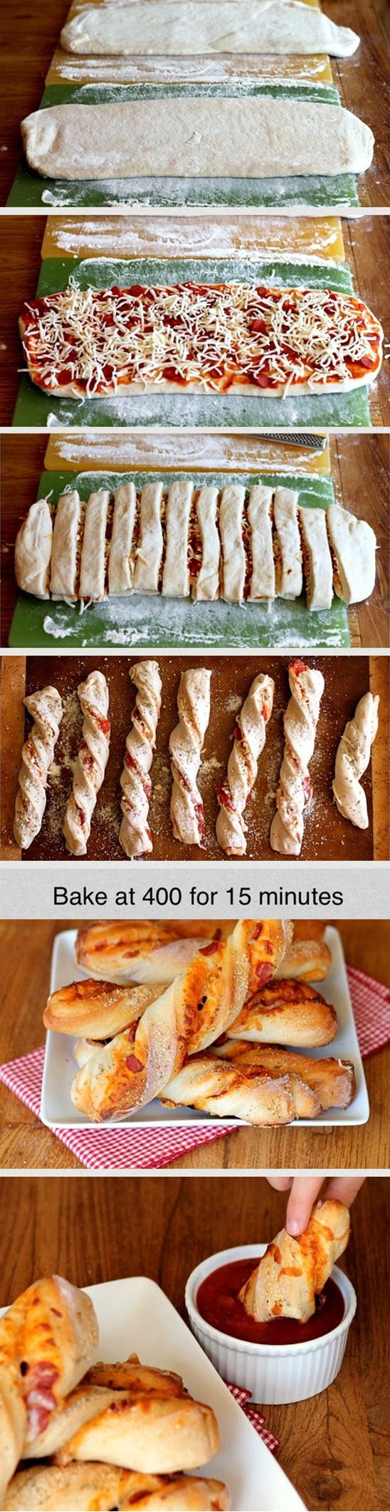 Dippable Pizza Sticks -