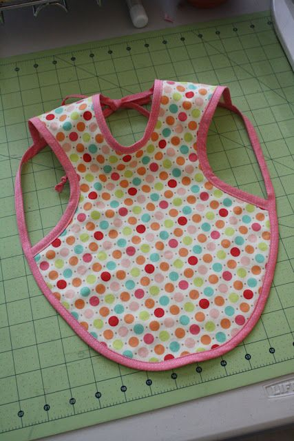 """Introducing the Bapron! aka the """"baby apron"""".  Tutorial and pattern."""