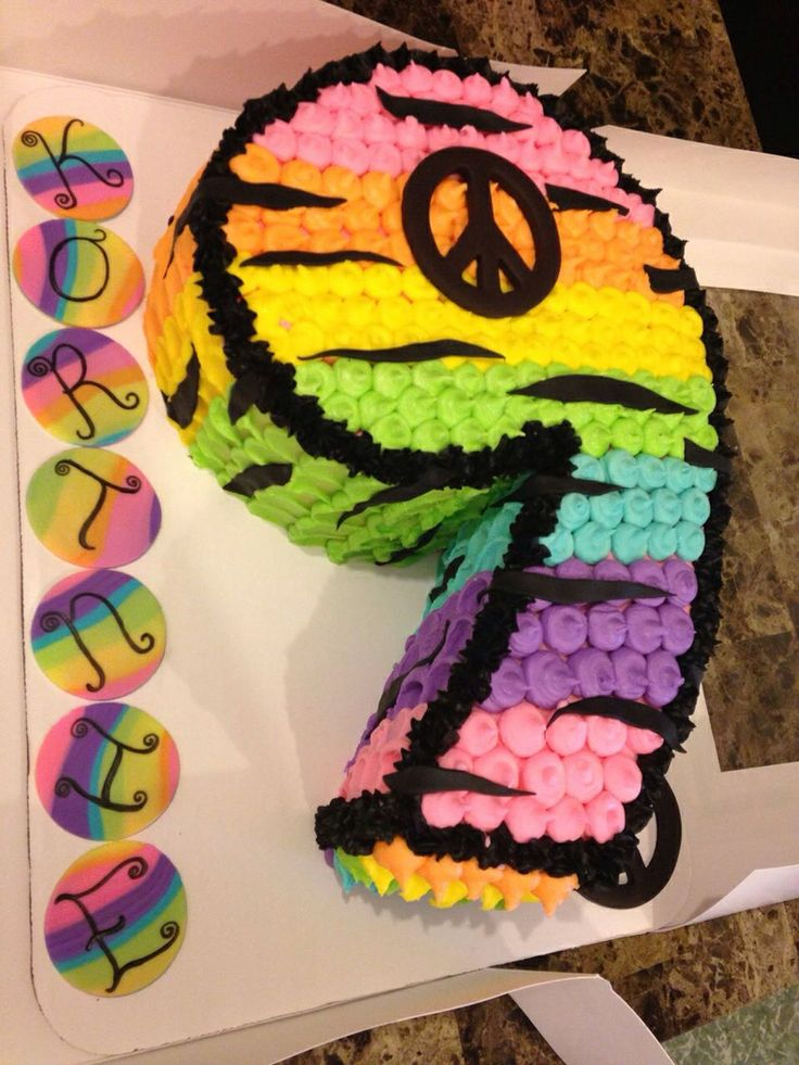 Peace Sign cake I did in Jan 2014