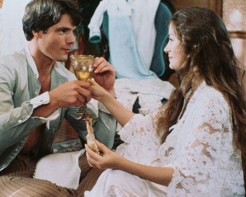 "Jane Seymour and Christopher Reeve in ""Somewhere in Time"""