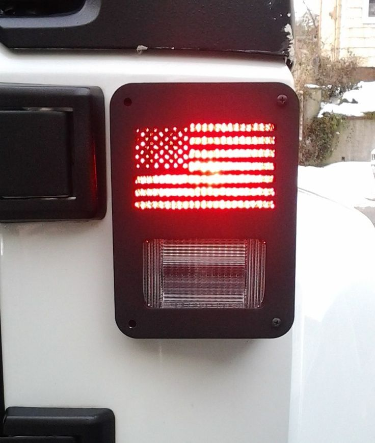 """US FLAG"" JEEP WRANGLER JK (2007-current) TAIL LIGHT GUARDS"