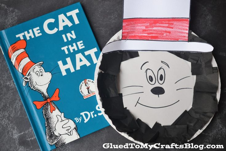 gluedtomycrafts Paper Plate Dr Seuss Cat In The Hat