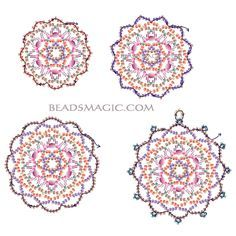 Free pattern for beautiful beaded pendant Fair         U need :  toho seed beads 11/0 - 5 colours  toho seed beads 15/0
