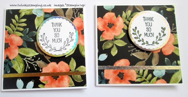 Twinks Stamping | Stampin' Up! Demonstrator: Whole lot of Lovely - Thank you
