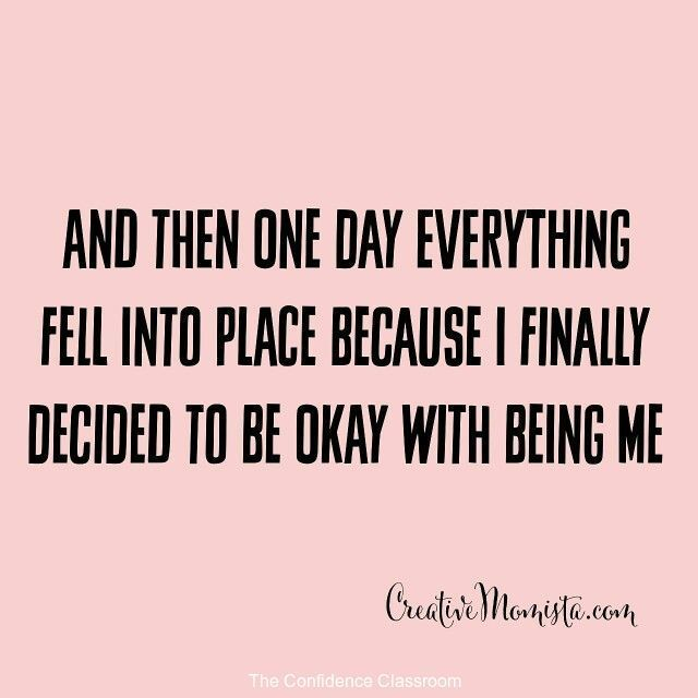 Be okay with who you are! #theconfidenceclassroom  #confidence  #motivation  #coach  #entrepreneur  @confidenceconqueror @boost_your_confidence @theconfidenceclub