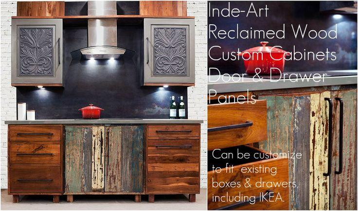 Reclaimed wood custom  kitchen cabinets