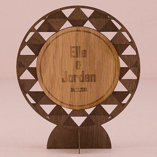 Geometric Personalized Wood Veneer Sign