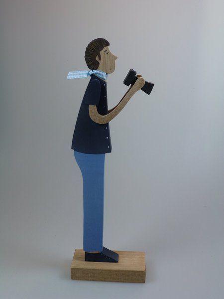 Декоративные предметы - фигуры из дерева - фотограф - дизайнер кусок от mw-деревянные искусства на DaWanda