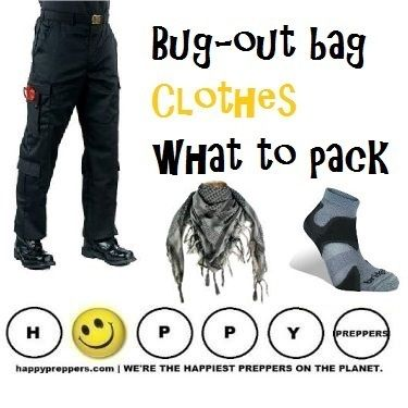 How to pack and plan your BUGOUT CLOTHES: http://www.happypreppers.com/bug-out-clothes.html
