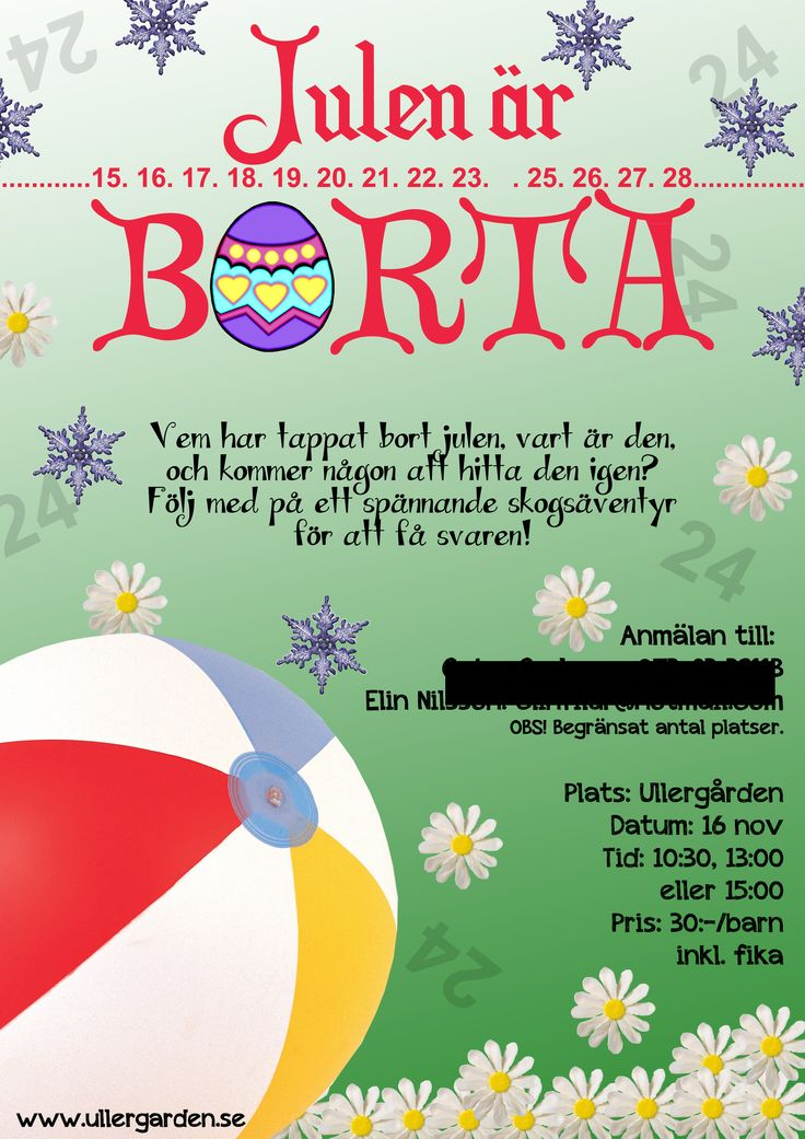 Christmas poster I designed for a childrens' play