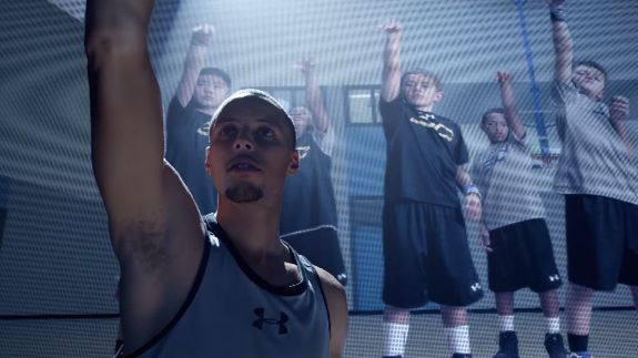 In a new commercial for the Under Armour Curry One. Jamie Foxx dubs Stephen Curry the Patron Saint of Underdogs.