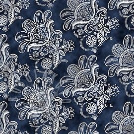 CEYLON Paisley floral toile navy