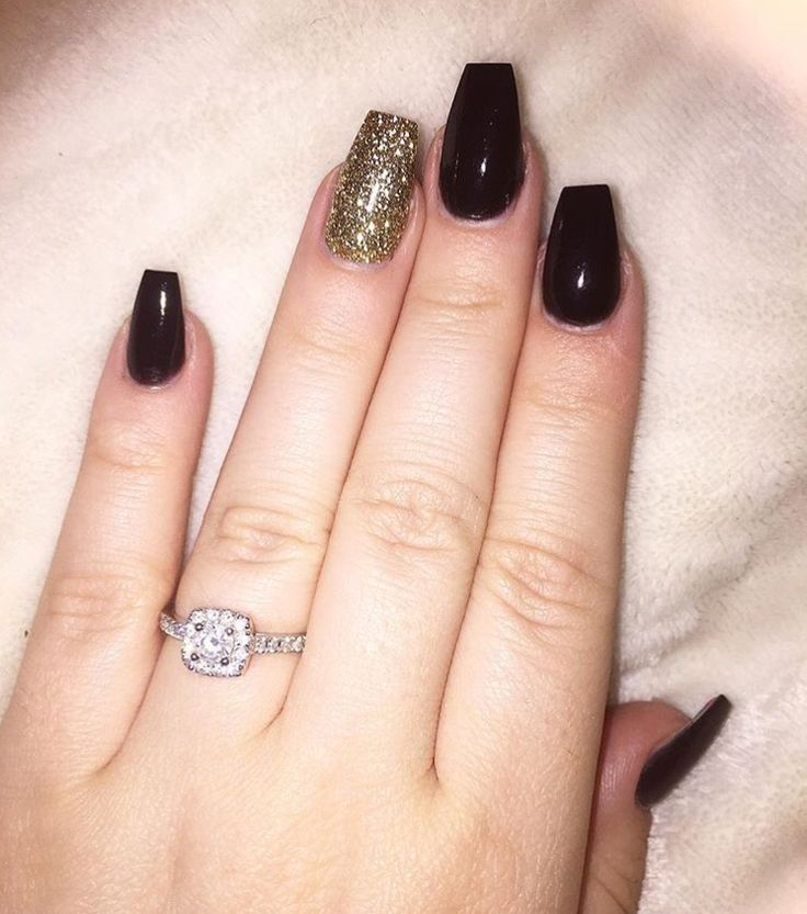 Black and rose gold acrylics | nails | Pinterest | Acrylics, Rose ...