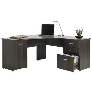 Malvern Willows Merge Corner Workstation Silver Charcoal | Officeworks