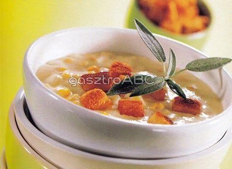 Kukoricás-burgonyás sajtleves krutonnal | Receptek | gasztroABC
