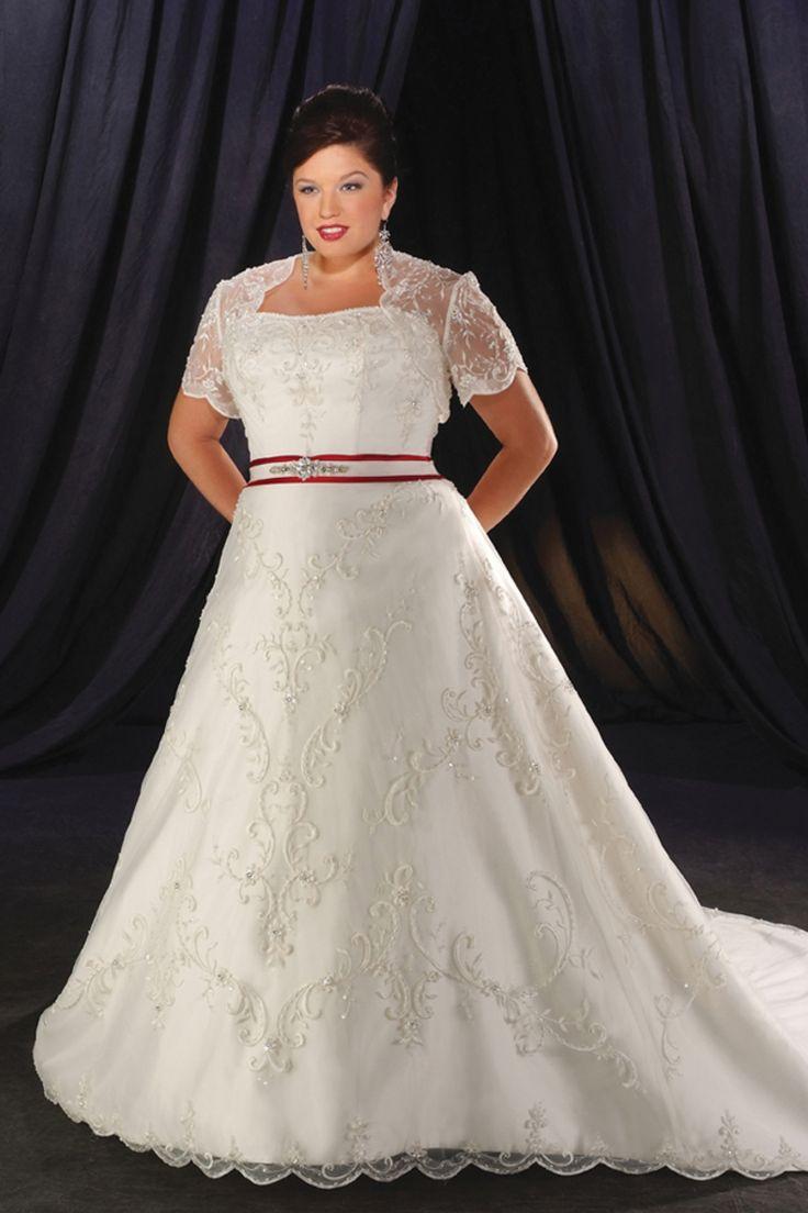 Nouvelle arrivée Fabuleux Une ligne dentelle plafonné manches Taille Plus robe de mariée USD 254.09 LFRPQ7SQ3NS - Labeautes.fr