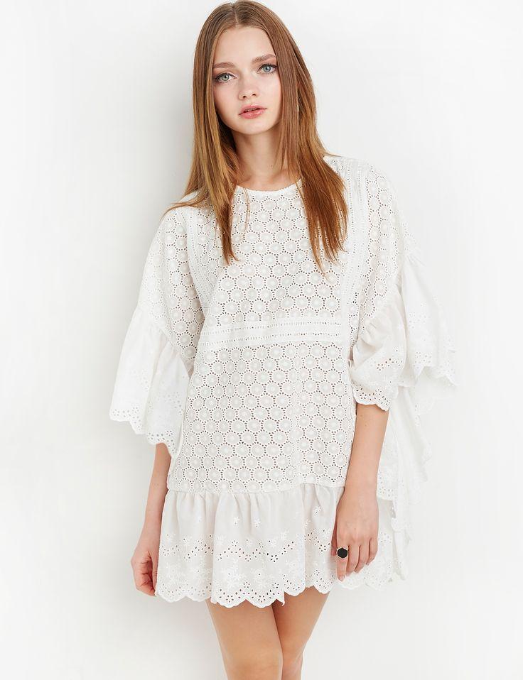 Scalloped Cotton Lace Dress