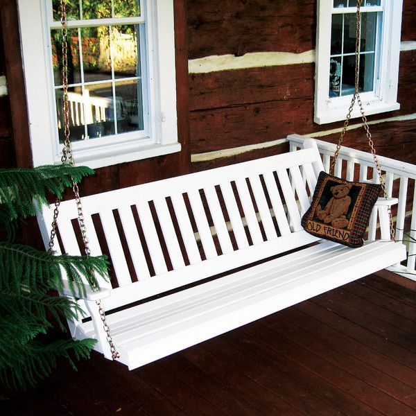 """Features:  Style: -Country/Cottage/Traditional.  Porch Swing Material: -Plastic.  Country of Manufacture: -United States.  Weight Capacity: -400 Pounds. Dimensions:  -Inside Seat 45""""W x 17""""D.  -Back 2"""
