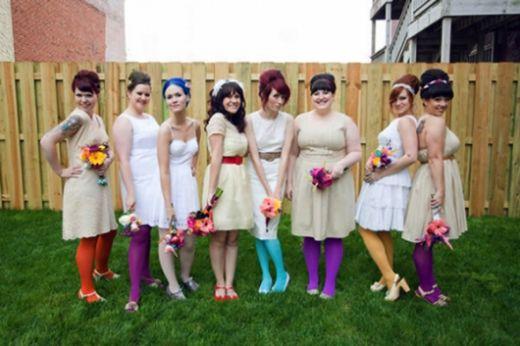 Um arco-íris vivo no casamento. Curiosidades do Casamento a Vista