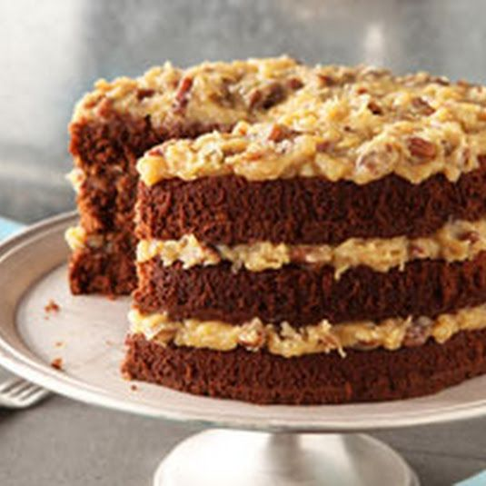 The original Bakers Chocolate GERMAN CHOCOLATE CAKE and COCONUT PECAN FROSTING