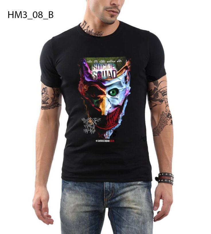 Suicide Squad T-shirt Slim Fit 100% Cotton Joker Retro Style T-shirt