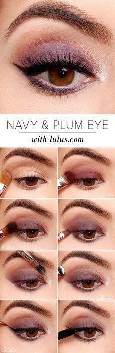 Идеи макияжа, которые выгодно подчеркнут карие глаза / 16. Глубокий сливовый