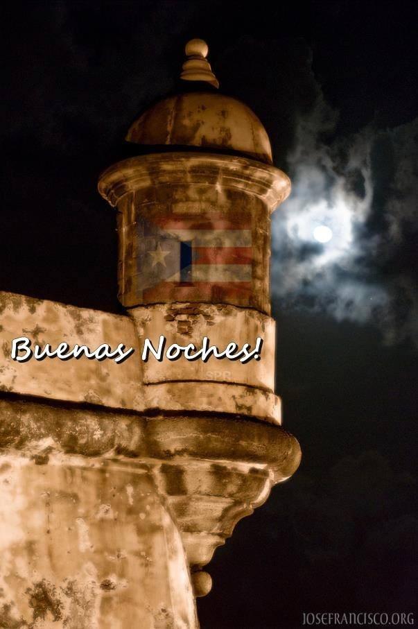 Desde la Isla del Encanto Puerto Rico Buenas noches!
